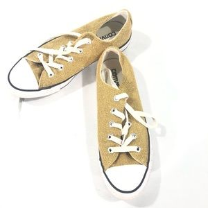 Gold Converse Low Rider Tennis Shoes